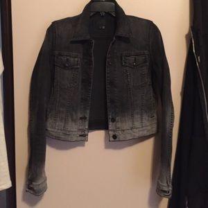 Vince Ombré Cropped Denim Jacket